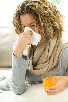 woman cold and flu