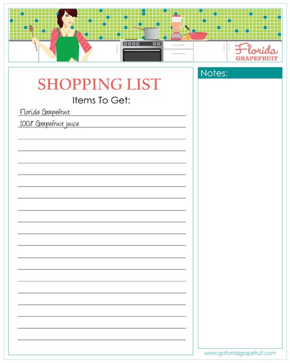 Welchs Printable Shopping List